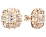 Diamond Earrings 14K Yellow Gold 1.10 cts. A12-E0081