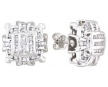 Diamond Earrings 14K White Gold 1.05 cts. A12-E0085