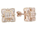 Diamond Earrings 14K Yellow Gold 0.90 cts. A12-E0086