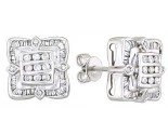Diamond Earrings 14K White Gold 0.90 cts. A12-E0086-W