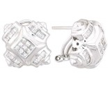 Diamond Earrings 14K White Gold 1.00 cts. A12-E0090