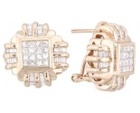 Diamond Earrings 14K Yellow Gold 1.50 cts. A12-E0091