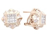 Diamond Earrings 14K Yellow Gold 1.70 cts. A12-E0092