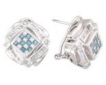 Diamond Earrings 14K White Gold 1.40 cts. A12-E0094