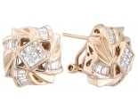 Diamond Earrings 14K Yellow Gold 1.20 cts. A12-E0095
