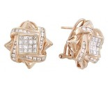 Diamond Earrings 14K Rose Gold 1.75 cts. A12-E0100