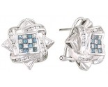 Diamond Earrings 14K White Gold 1.75 cts. A12-E0100-WB