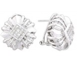 Diamond Earrings 14K White Gold 1.65 cts. A12-E0101