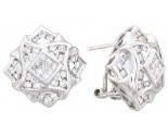 Diamond Earrings 14K White Gold 1.35 cts. A12-E0102