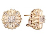 Diamond Earrings 14K Yellow Gold 0.55 cts. A12-E0104
