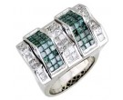 Men's Diamond Ring 14K White Gold 4.80cts. A16-R0373-WB