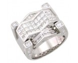 Men's Diamond Ring 14K White Gold 4.50cts. A18-R0327