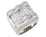 Men's Diamond Ring 14K White Gold 5.40 cts. A18-R0547