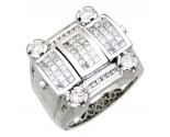 Men's Diamond Ring 14K White Gold 2.50cts. A18-R0700