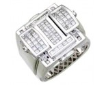 Men's Diamond Ring 14K White Gold 1.75cts. A18-R0702