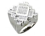 Men's Diamond Ring 14K White Gold 3.35 cts. A18-R0709