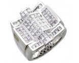 Men's Diamond Ring 14K White Gold 4.40cts. A18-R0726
