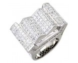 Men's Diamond Ring 14K White Gold 9.60cts. A18-R0731