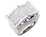 Men's Diamond Ring 14K White Gold 6.50cts. A18-R0742