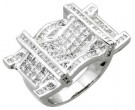 Men's Diamond Ring 14K White Gold 6.00 cts. A18-R0755