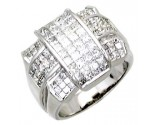 Men's Diamond Ring 14K White Gold 4.25 cts. A18-R0761