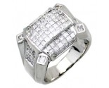 Men's Diamond Ring 14K White Gold 3.90 cts. A18-R0764