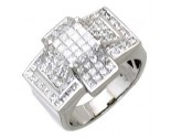Men's Diamond Ring 14K White Gold 3.50 cts. A18-R0766