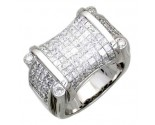 Men's Diamond Ring 14K White Gold 5.70 cts. A18-R0779
