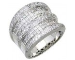 Men's Diamond Ring 14K White Gold 4.65cts. A18-R0838
