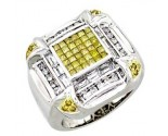 Men's Diamond Ring 14K White Gold 2.50cts. A20-LJ70158