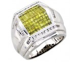 Men's Diamond Ring 14K White Gold 2.30cts. A20-R0006-WY
