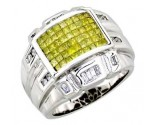 Men's Diamond Ring 14K White Gold 1.75 cts. A20-R0007-WY