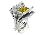 Men's Diamond Ring 14K White Gold 6.75 cts. A20-R0293-WY