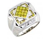 Men's Diamond Ring 14K White Gold 2.00cts. A20-R0657-WY