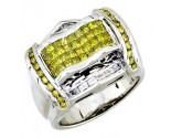 Men's Diamond Ring 14K White Gold 2.10cts. A20-R0670-WY