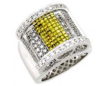 Men's Diamond Ring 14K White Gold 2.75cts. A22-R0005-WY