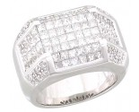 Men's Diamond Ring 14K White Gold 3.35 cts. A22-R0025