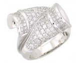 Diamond Cocktail Ring 14K White Gold 2.50 cts. A22-R0266