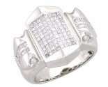 Men's Diamond Ring 14K White Gold 1.50cts. A22-R0283