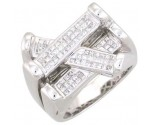 Men's Diamond Ring 14K White Gold 1.10 cts. A22-R0290