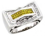 Men's Diamond Ring 14K White Gold 1.65 cts. A22-R0333-WY