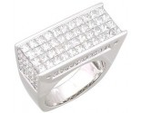 Men's Diamond Ring 14K White Gold 8.90 cts. A22-R0352