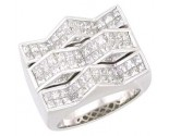 Men's Diamond Ring 14K White Gold 4.75 cts. A22-R0374