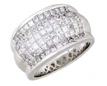 Men's Diamond Ring 14K White Gold 5.21cts. A22-R0918