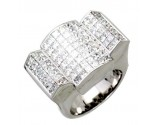 Men's Diamond Ring 14K White Gold 7.00 cts. A24-R0730