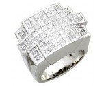 Men's Diamond Ring 14K White Gold 5.25 cts. A24-R0735