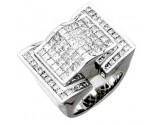 Men's Diamond Ring 14K White Gold 7.00 cts. A24-R0740