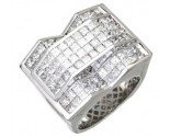 Men's Diamond Ring 14K White Gold 7.10 cts. A24-R0743