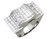 Men's Diamond Ring 14K White Gold 6.35 cts. A24-R0744