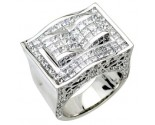 Men's Diamond Ring 14K White Gold 6.25 cts. A24-R0745
